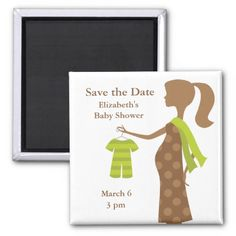 Chic Mom To Be Baby Shower Save the Date Magnets Magnet