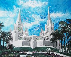 "San Diego, CA LDS Temple  by Bekalyn Craig  #Mormon #LDS  - MormonFavorites.com  ""I cannot believe how many LDS resources I found... It's about time someone thought of this!""   - MormonFavorites.com"