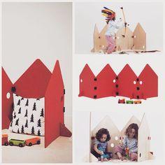 «Взбудоражена темой ширмы:)) Комментарии ваши в голове весь день. Я когда-то впервые увидела вот такую историю из тонкой фанеры, думала, отличная штука для…» Playpen, Cardboard Crafts, Kids House, Diy And Crafts, Toddler Bed, Kids Room, Interior, Projects, Furniture