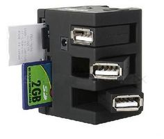 All In One Card Reader with USB Hub