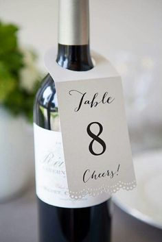 Table numbers!! Cheers!!
