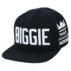 22c2432731b Notorious big biggie smalls snapback black hat cap king of ny brooklyn bad  boy