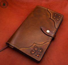 Cuir Moleskine couverture (Notebook 13x21cm, Brogue marron Antique)