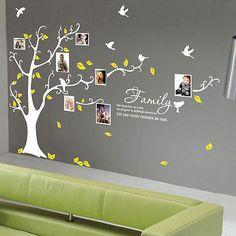 Famiglia Tree Uccello Arte Muro preventivi / adesivi da parete / muro Decalcomanie 212