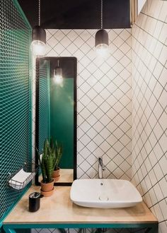 Baranova Pokorsky creates simple plant-filled interior for St Petersburg coffee . - Home Decor Bad Inspiration, Bathroom Inspiration, Bathroom Toilets, Small Bathroom, Bathroom Ideas, Bathroom Plants, Bathroom Colors, Bathroom Wall, Bamboo Bathroom