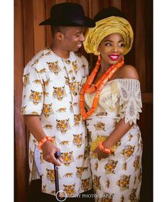 Nigerian Traditional Wedding Dress Styles Elegant Pin by Cynthia Lyon On Wedding Ideas Couples African Outfits, Couple Outfits, African Attire, African Wear, African Dress, Nigerian Wedding Dresses Traditional, Traditional Wedding Attire, African Traditional Dresses, Nigerian Outfits