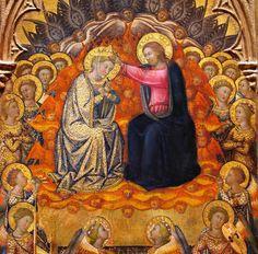 Incoronazione di Maria, di Niccolò di Buonaccorso, 1380 ca. - Metropolitan Museum of Art, New York