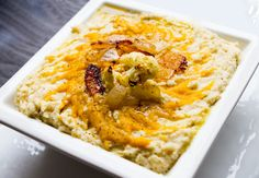 Roasted Cauliflower Pumpkin Swirl Dip with Garbanzo Bean Vegan