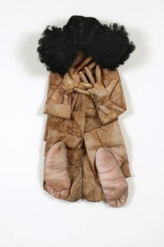 """Elia Alba (b. : """"I literally photographed my body and enlarged or shrunk some of those images. Applied to fabric, the images were further manipulated to create a three-dimensional collage. Textile Sculpture, Soft Sculpture, Textile Art, Human Sculpture, Contemporary Sculpture, Contemporary Art, Bokashi, Textiles, Comme Des Garcons"""