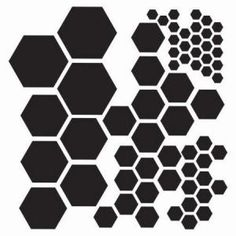 Template - 6 x 6 - Balzer Designs - Hexagons  The crafter's workshop