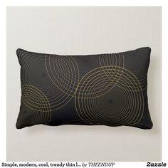 Simple, modern, cool, trendy thin line circles lumbar pillow Lumbar Pillow, Throw Pillows, Brown Cushions, Thin Line, Custom Pillows, Simple Designs, Vector Art, Circles