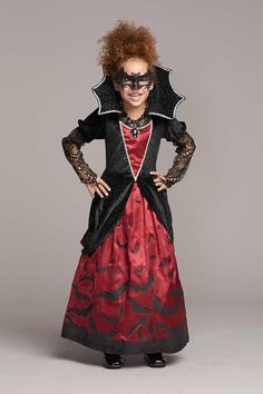 Batty Vampiress Halloween Costume for Girls Scary Kids Costumes, Halloween Bride Costumes, Kids Costumes Girls, Homemade Halloween Costumes, Halloween Outfits, Girl Costumes, Diy Halloween, Halloween Couples, Group Halloween