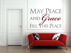 Wall Decal Wall Quote Verse Christian May Peace and Grace Fill