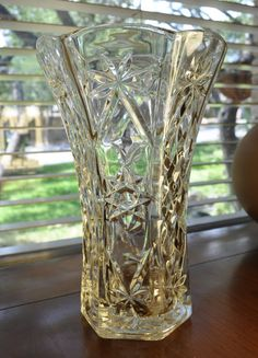 Anchor Hocking  Star of David  Large Vase by TumptOver on Etsy, $9.95 #wedding #vintage #vintagewedding
