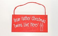 Wooden Plaques for Twins, Mothers of Twins and Your Twin £6.99