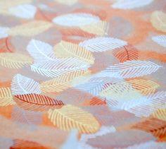 Handmade origami paper  Leaves on orange