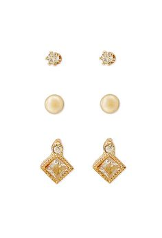 Faux Gem Stud Set | FOREVER21 - 1002247286