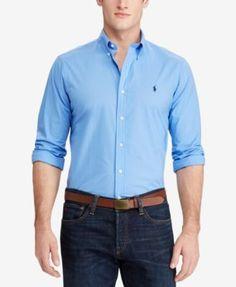 POLO RALPH LAUREN Polo Ralph Lauren Men'S Standard Fit Poplin Shirt. #poloralphlauren #cloth #down shirts