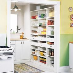 Wicho likes this for a pantry Kitchen - eclectic - kitchen - baltimore - California Closets Maryland Open Pantry, Kitchen Pantry Storage, Kitchen Pantry Design, Pantry Shelving, Kitchen Pantry Cabinets, Walk In Pantry, Open Shelving, Pantry Closet, Organized Pantry