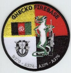 3rd Special Forces Group Pocket Patches Operational Detachment B-370 Firebase GHECKO A Company, 3rd Battalion