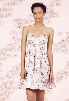 LC Lauren Conrad Runway Collection Floral Jacquard Strapless Dress - Women's