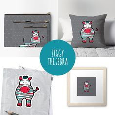 DIY Ziggy the Zebra gifts & products to match our printables and invitations