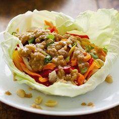 Light Thai Chicken Lettuce Wraps - a fresh, healthy dinner option.