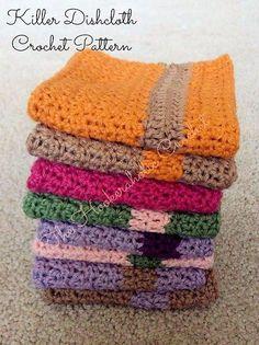 Free Crochet Pattern: Killer Dishcloth