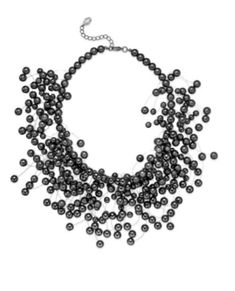 Ali Khan Imitation Pearl Illusion Necklace