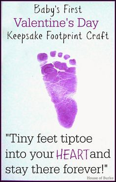 Baby's First Valentine's Day Keepsake Footprint Craft - House of Burke