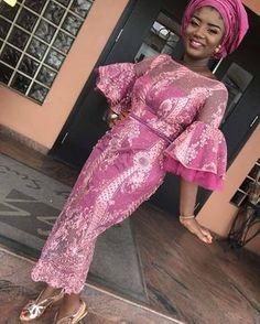 Nigerian Lace Styles For Wedding [Updated May Diyanu - Aso Ebi Styles African Fashion Ankara, African Fashion Designers, Latest African Fashion Dresses, Lace Styles For Wedding, Lace Gown Styles, Wedding Guest Style, Lace Wedding, Wedding Dress, African Lace Styles