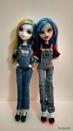 Monster high Lagoona and Ghoulia by Turquesa
