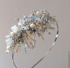 Bridal Hair Fascinators, Fascinator Hairstyles, Crown Hairstyles, Handmade Bridal Jewellery, Wedding Jewelry, Diy Tiara, Hair Jewels, Tiaras And Crowns, Jewelry Patterns