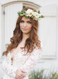 #bride #bridal #crown #flower #headband #beach #wedding #bohemian #inspiration #hair #vintage #boho
