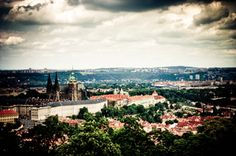 The castle from Petrin tower, http://www.bihiprague.com/photo-tours-in-prague/  #photographyinprague #streetphotographyinprague #phototoursinprague #35mmphotographyprague #privatephototoursinprague #photography