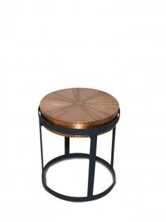 Zelig Black & Copper Side Table 41cm x 41cm x 44cm