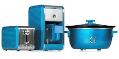 Bella Dots Collection: Toaster, Coffee Maker and Slow Cooker - Teal Blue #BellaDots #BellaLife