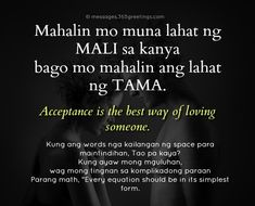 Tagalog Love Quotes - 365greetings.com Hugot Lines Tagalog Love, Tagalog Love Quotes, Sad Words, Love Quotes For Him, Math, Text Posts, Math Resources, Quotes About Love For Him, Mathematics