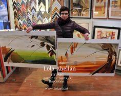 Lola Abellan visita TOTART totart.cat #acuarelas #originales #tienda #cuadros #barcelona #decoracion