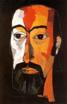 Retrato de Jorge Enrique Adoum : Oswaldo Guayasamín