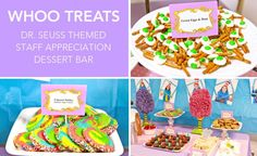 Dr. Seuss teacher appreciation week ~ dessert bar