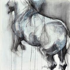 """Saatchi Online Artist: Benedicte Gele; Chalk, 2011, Drawing """"Esquive"""""""