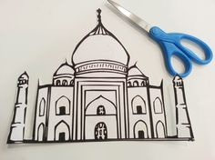 India Crafts for Kids. Get them to flick paint onto the paper and once it's…