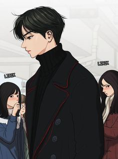 The Secret Of Angel | Suho Lee | Webtoon The Secret, Boy Illustration, Illustrations, Cute Couple Art, Anime Couples Drawings, Cute Girl Poses, Cute Girl Wallpaper, Angel Aesthetic, Handsome Anime Guys