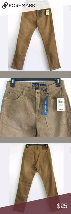 """Lucky Cooper Slim camel corduroy pants Tag Size: 18 (childrens)  New with tags  Measurements were taken with garment laying flat and are approximate:  Rise: 9""""  Waist: 14"""" Across  Inseam: 30""""  Inv1400 Lucky Brand Bottoms Casual"""