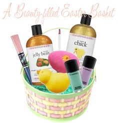 Cheryls happy face gift tower teen girl gift baskets a beauty filled easter basket negle
