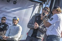 Indy Car Driver, JR Hildebrand, joined ORACLE TEAM USA on the water today at the America's Cup World Series regatta in San Francisco.