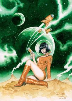 The Ultimate Collection of Science Fiction Pin-Up Art [NSFW] - related to pulp fiction Arte Do Pulp Fiction, Science Fiction Kunst, Science Art, Science Comics, Science Daily, Science Space, Science Experiments, Retro Kunst, Retro Art