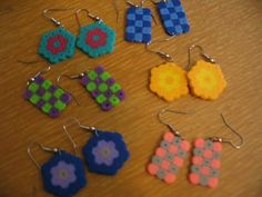 Perler Bead earrings! I'm making these with the girls today!