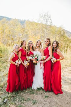 My beautiful bridesmaids looked amazing in these cranberry dresses! Park City Mountain, Mountain Resort, Cranberry Dress, Bridesmaid Dresses, Wedding Dresses, Bridesmaids, Happy Everything, Rustic Elegance, Fall Wedding
